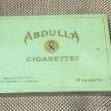 Paquetes de tabaco: CAJA METÁLICA DE CIGARRILLOS ABDULLA,LONDRES,ORIGINAL,BUEN ESTADO,VER LA FOTO,TABACOS. Lote 45257558