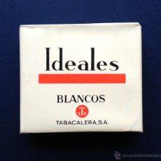 Paquetes de tabaco: ANTIGUO PAQUETE DE TABACO IDEALES BLANCOS 18 CIGARRILLOS DE HEBRA - TABACALERA SA. - AÑOS 60 70. Lote 118649942
