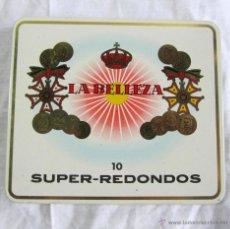 Paquetes de tabaco: CAJA DE PURITOS REDONDOS LA BELLEZA. Lote 45516149