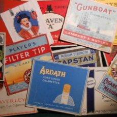 Paquetes de tabaco: COLECCION FRONTALES PAQUETES DE TABACO. AÑOS 40/50. Lote 45693690