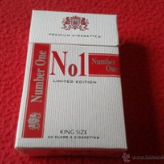 Paquetes de tabaco: PAQUETE DE TABACO VACIO Nº 1 NUMBER ONE CAJETILLA DURA TENGO MAS PAQUETES VEAN MIS LOTES. Lote 130382559