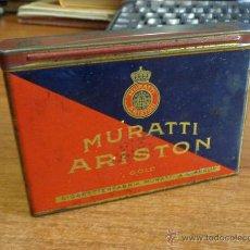 Paquetes de tabaco: PAQUETE TABACO-LATA LITOGRAFIADA. MURATTI ARISTON GOLD. CIGARETTENFABRIK MURATTI A. G. BERLIN.. Lote 46131431