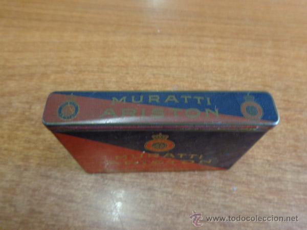 Paquetes de tabaco: PAQUETE TABACO-LATA LITOGRAFIADA. MURATTI ARISTON GOLD. CIGARETTENFABRIK MURATTI A. G. BERLIN. - Foto 4 - 46131431