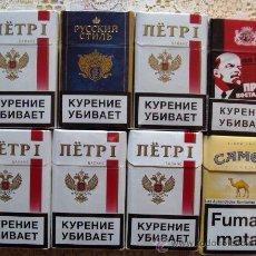 Paquetes de tabaco: TABACO RUSO Y MARROQUIIS PAQUETES, ESTAN VACIOS,. Lote 46331708