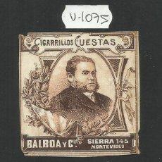 Paquetes de tabaco: ENVOLTORIO PAQUETE DE TABACO - CIGARRILLOS CUESTAS - (V-1075-B). Lote 46333540