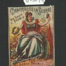 Paquetes de tabaco: ENVOLTORIO PAQUETE DE TABACO - CIGARRILLOS LA SUERTE - (V-1094-B). Lote 46333956