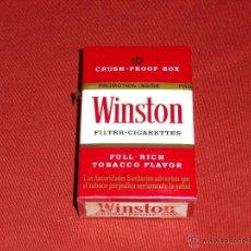 Paquetes de tabaco: ANTIGUA CAJETILLA WINSTON NUEVA CON PRECINTO ESPAÑOLA. Lote 46564914