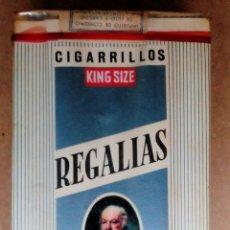 Paquetes de tabaco: 1 ANTIGUA ('60S-'70S) CAJETILLA CON CIGARRILLOS - NUNCA ABIERTA - 'REGALÍAS GOYA' (KING SIZE). Lote 52577595