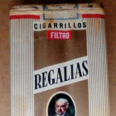 Paquetes de tabaco: 1 ANTIGUA ('60S-'70S) CAJETILLA CON CIGARRILLOS - NUNCA ABIERTA - 'REGALÍAS GOYA' (FILTRO). Lote 52577584