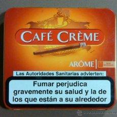 Paquetes de tabaco: CAJA TABACO CAFÉ CRÈME. AROME. HENRI WINTERMANS. CAJETILLA METALIZADA APERTURA SUPERIOR. 9 X 8 CM.. Lote 263891065