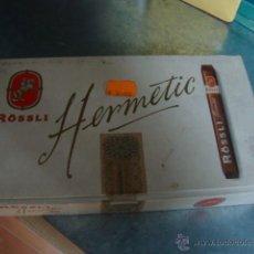 Paquetes de tabaco: CAJA DE PUROS ROSSLI HERMETIC -ABIERTA-CAJA PASO DEL TIEMPO.PUROS BIEN CONSERVADOS. Lote 46709797
