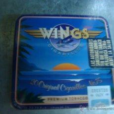 Paquetes de tabaco: CAJETILLA METALICA DE CIGARROS PURITOS WINGS SIN ABRIR. Lote 71961794