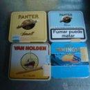 Paquetes de tabaco: LOTE DE CAJETILLAS METALICAS CIGARRILLOS PURITOS SIN ABRIR.PANTER,WINGS Y VAN HOLDER. Lote 46710059