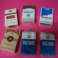 Paquetes de tabaco: LOTE 6 PAQUETES DE TABACO ANTIGUOS-SIN ABRIR-. Lote 46809062