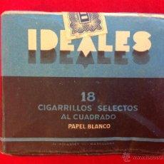 Paquetes de tabaco: PAQUETE TABACO DE IDEALES, SIN ABRÍR, PRECINTADO, PAPEL BLANCO, 18 CIGARRILLOS SELECTOS. TABACALERA. Lote 46877332