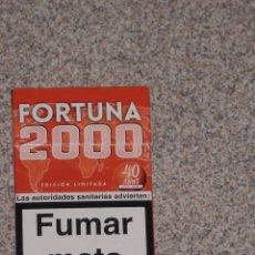 Paquetes de tabaco: PAQUETE DE TABACO VACIO FORTUNA 2000 ( 40 AÑOS ) , COLECCION EDICION LIMITADA . Lote 47070881