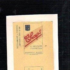 Paquetes de tabaco: 1940.MARQUILLA DE TABACO. CHAPS. DOMESTIC BLEND. SUAVES Y AROMATICOS. HABANA, CUBA.. Lote 47201004