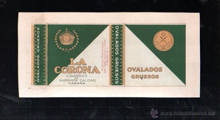 1940.PAQUETE.MARQUILLA DE TABACO. LA CORONA. OVALADOS GRUESOS. HABANA, CUBA. (Coleccionismo - Objetos para Fumar - Paquetes de tabaco)