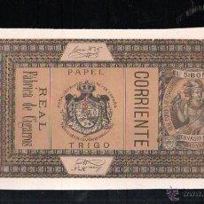 Paquetes de tabaco: 1920.MARQUILLA DE TABACO. EL SIBONEY. GERVASIO Nº 182. CORRIENTE. PAPEL TRIGO. CUBA. Lote 48782181