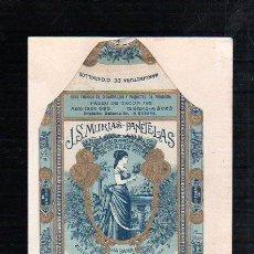 Paquetes de tabaco: 1920.MARQUILLA DE TABACO. J.S.MURIAS. PANETELAS ARROZ. HABANA, CUBA.. Lote 47202062