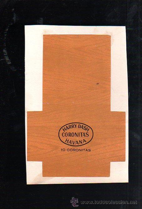 1950.MARQUILLA DE TABACO. HARRY DASH. CORONITAS. HABANA. CUBA. (Coleccionismo - Objetos para Fumar - Paquetes de tabaco)