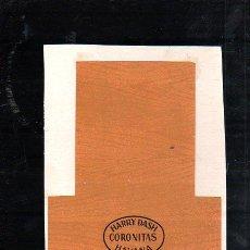 Paquetes de tabaco: 1950.MARQUILLA DE TABACO. HARRY DASH. CORONITAS. HABANA. CUBA.. Lote 47202754