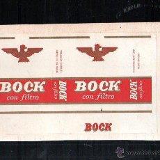 Paquetes de tabaco: MARQUILLA DE TABACO. BOCK CON FILTRO. HABANA, CUBA.1940. PAQUETE TABACO. Lote 47202874