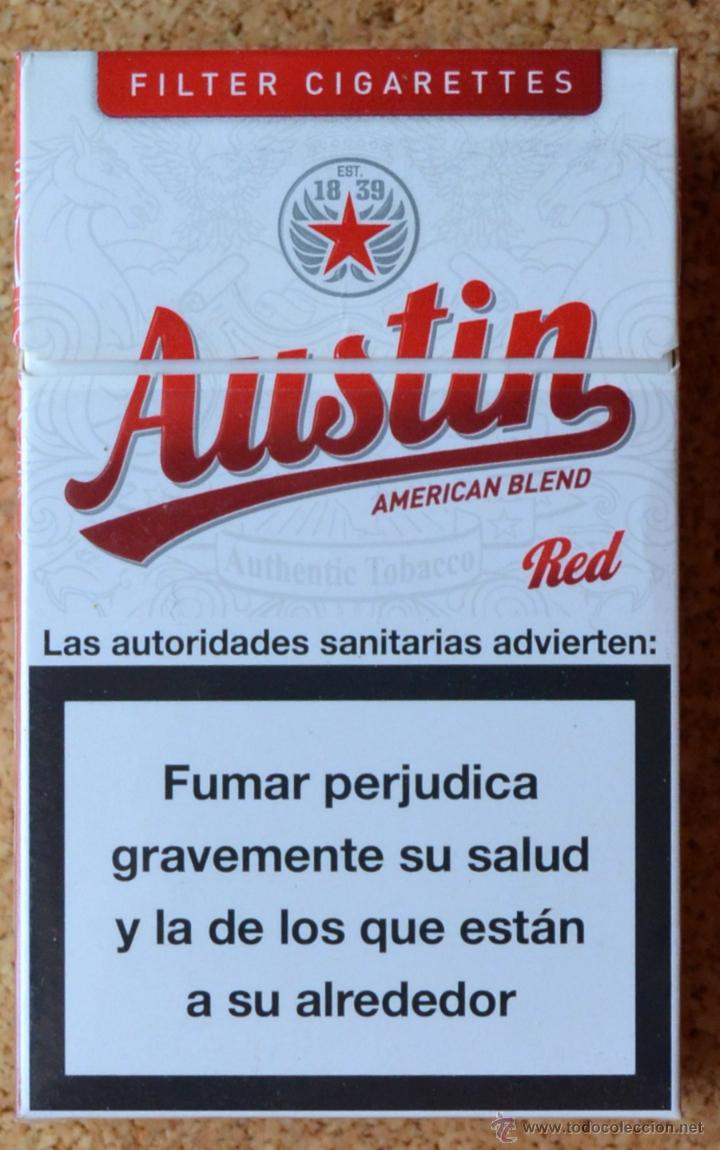 Austin Red American Blend Paquete De Tabaco Buy Antique Packets Of Cigarettes At Todocoleccion 47239102