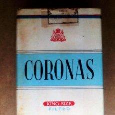 Paquetes de tabaco: 1 ANTIGUA ('60S-'70S) CAJETILLA CON CIGARRILLOS - NUNCA ABIERTA - 'CORONAS' (KING SIZE FILTRO). Lote 47247005
