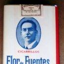 Paquetes de tabaco: 1 ANTIGUA ('60S-'70S) CAJETILLA CON CIGARRILLOS - NUNCA ABIERTA - 'FLOR DE FUENTES' (ESPEC.AMARILLO). Lote 54312983