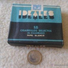 Paquetes de tabaco: ANTIGUO PAQUETE DE TABACO IDEALES TABACOS 18 CIGARRILLOS SELECTOS AL CUADRADO PAPEL BLANCO CIGARRO . Lote 47356661