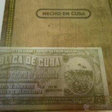 Paquetes de tabaco: ANTIGUA CAJA DE TABACO DE CEDRO , MONTECRISTO , CUBA .. VER . Lote 47438838