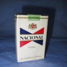 Paquetes de tabaco: ANTIGUO PAQUETE DE TABACO CIGARRILLOS NACIONAL RUBIOS FILTRO. Lote 47527028