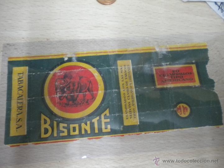 ANTIGUO PAQUETE DE TABACO MARCA BISONTE (Coleccionismo - Objetos para Fumar - Paquetes de tabaco)