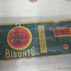 Paquetes de tabaco: ANTIGUO PAQUETE DE TABACO MARCA BISONTE. Lote 48393013