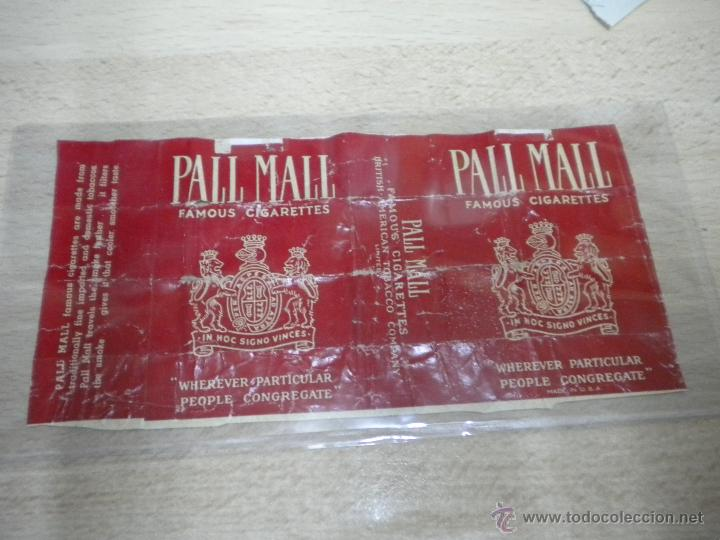 ANTIGUO PAQUETE DE TABACO MARCA PALL MALL (Coleccionismo - Objetos para Fumar - Paquetes de tabaco)