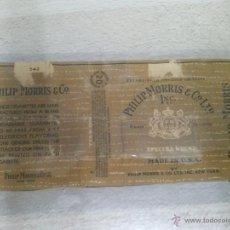 Paquetes de tabaco: ANTIGUO PAQUETE DE TABACO MARCA PHILIP MORRIS. Lote 48393031