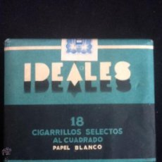 Paquetes de tabaco: PAQUETE DE IDEALES AZUL. Lote 48506087