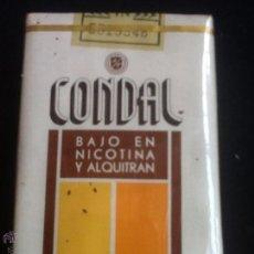 Paquetes de tabaco: PAQUETE DE TABACO CONDAL SIN ABRIR AÑOS 70. Lote 48580211