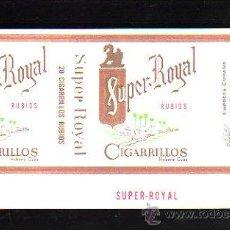 Paquetes de tabaco: PAQUETE DE TABACO. SUPER ROYAL. RUBIOS. HABANA, CUBA. 16 X 9CM.. Lote 48972585