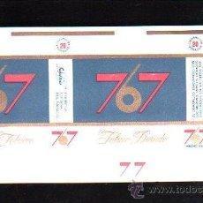 Paquetes de tabaco: PAQUETE DE TABACO. TABACO DORADO. 767. HECHO EN CUBA. 16 X 9CM.. Lote 48972593