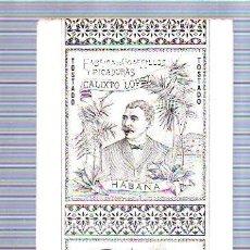Paquetes de tabaco: PAQUETE DE TABACO. CUBA. CALIXTO LOPEZ. CAMELIAS. HEBRA BREA. TOSTADO. 21 X 10CM.. Lote 49190204