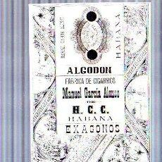 Paquetes de tabaco: PAQUETE DE TABACO. CUBA. MANUEL GARCIA ALONSO. ALGODON. EXAGONOS. 16 X 12CM.. Lote 49190296