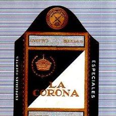 Paquetes de tabaco: PAQUETE DE TABACO. CUBA. LA CORONA. CALIDAD SUPERIOR. ARROZ. 10 X 22CM.. Lote 49190344