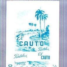Paquetes de tabaco: PAQUETE DE TABACO. CUBA. EL CAUTO. PANETELAS. 10 X 21CM.. Lote 49190355