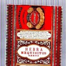 Paquetes de tabaco: PAQUETE DE TABACO. CUBA. FLOR DE HENRY CLAY. JULIAN ALVAREZ. HEBRA EXQUISITOS ARROZ. 12 X 18CM.. Lote 49190387