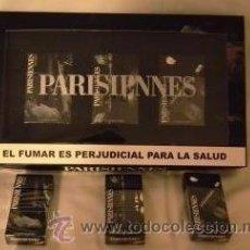 Paquetes de tabaco: CAJA ESPECIAL CON 3 CAJETILLAS PARRISIENS20 Y 3 CAJETIILAS 10 'S SERIE POSTALES DE FRANCIA. Lote 49581457