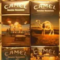Paquetes de tabaco: 4 CAJETILLAS VACIAS DE CAMEL SERIE COMPLETA GENUINE OCASSIONS DE ARGENTINA. Lote 49588511