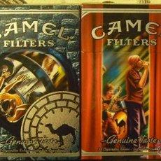 Paquetes de tabaco: 4 CAJETILLAS VACIAS CIGARRILLOS CAMEL SERIE GENUINE TASTE DE ARGENTINA COLECCION COMPLETA. Lote 49588564