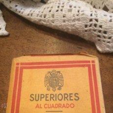 Paquetes de tabaco: ANTIGUO PAQUETE DE CIGARRILLOS SUPERIORES AL CUADRADO MARCA TABACALERA S.A AÑOS 30-40 . Lote 49599788